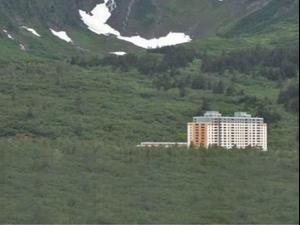העיירה באלסקה בה כולם גרים בבניין אחד. messy.nessy/TikTok, צילום מסך