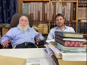 """הרב דרוקמן בתום ישיבת הרבנים: אסור להסתמך על ממשלה שתישען על רע""""מ  3.5.21. צילום: הציונות הדתית, באדיבות המצולמים"""