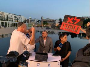 הפרעות לשידור התכנית של שמעון ריקלין בערוץ 20 ערוץ. ספיר לוי