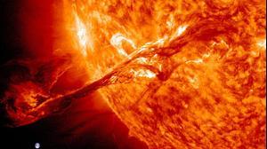 סערה גאומגנטית על השמש