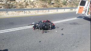 תאונת אופנוע בכביש 465 באזור בנימין, 26 במאי 2017