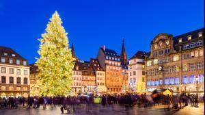 שוק חג המולד בשטרסבורג בצרפת