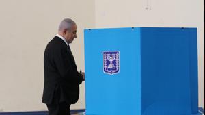 ראש הממשלה בנימין נתניהו ורעייתו שרה מגיעים להצביע בירושלים, 17 בספטמבר 2019