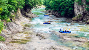 רפטינג במורד נהר טון (Tone), יפן