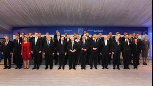 לראשונה בהיסטוריה, התכנסו למעלה מ-40 ממנהיגי העולם לארוחת הערב הרשמית שהתקיימה בחסות נשיא המדינה בבית הנשיא לכבוד פורום השואה הבינלאומי, 22 בינואר 2020