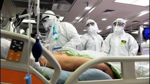 מחלקה לטיפול בחולי קורונה בבית חולים השרון בפתח תקווה 4 במאי 2020