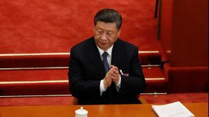 נשיא סין שי ג'ינפינג בכינוס הפרלמנט, 22 במאי 2020