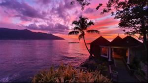 שקיעה במלון הילטון נורת'הולם באיי סיישל