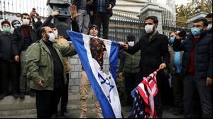 הפגנות באיראן לאחר חיסולו של מוחסן פחריזאדה, טהראן, 28 נובמבר