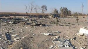 """אתר שהותקף על ידי ארה""""ב במזרח סוריה, 26 בפברואר 2021. טלגרם, אתר רשמי"""