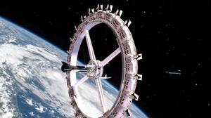 הדמיה של המלון הראשון בחלל Voyager. Orbital Assembly, אתר רשמי