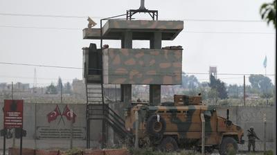 רכב טורקיה בפטרול סמוך לגבול סוריה - 20 אוקטובר 2019