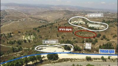 תיעוד זירת אירוע הירי מגבול לבנון, 24 באוגוסט 2020