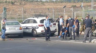 Crash attack at Tapuach Junction, September 2, 2020