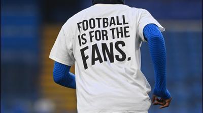 מחאת הקבוצות האנגליות נגד הסופר ליג: כדורגל הוא למען האוהדים. רויטרס