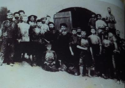 דוד בן גוריון עובד ביקב - יקבי כרמל