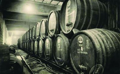 חביות היין הראשונות ביקב ראשון לציון