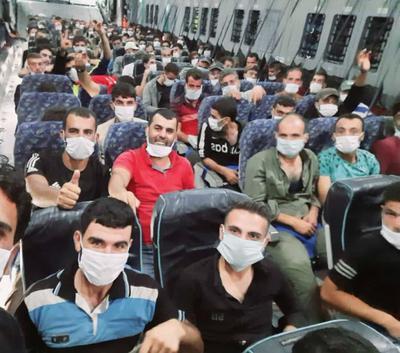 Des combattants syriens se dirigent vers la zone de combat du Haut-Karabakh, septembre 2020