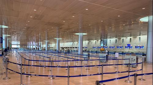 נמל התעופה בן גוריון, 22 במרץ 2020