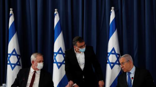 ראש הממשלה בנימין נתניהו ובני גנץ בישיבת הממשלה 28 ביוני 2020