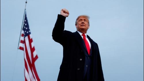 """נשיא ארה""""ב דונלד טראמפ באירוע בחירות בקרוליינה הצפונית, 19 בספטמבר 2020"""