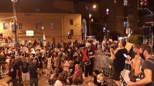 """הפגנה מול מעון ראש הממשלה נתניהו בבלפור, ירושלים, ראש השנה תשפ""""א, 20 בספטמבר 2020"""