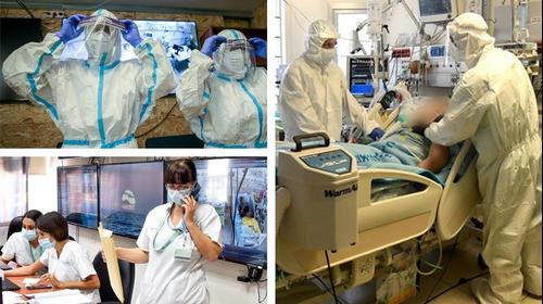 התחלואה בבתי החולים- מחלקות קורונה בבתי חולים בצפון, ירושלים ובדרום