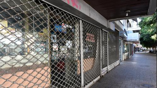 חנויות סגורות ברחוב אלנבי בתל אביב