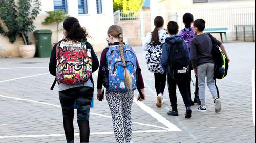 """תלמידי כיתות ה-ו חוזרים ללימודים, בי""""ס עוזי חיטמן, פתח תקווה, 24 בנובמבר 2020"""