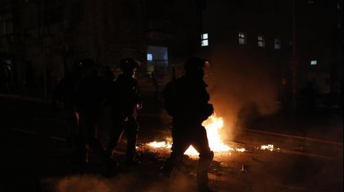 התפרעויות ועימותים ברחוב בר אילן, ירושלים, 25 בינואר 2021. אוליבייה פיטוסי, פלאש 90