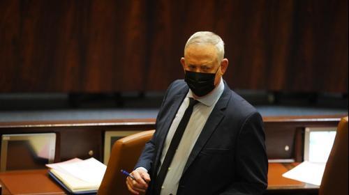 """יו""""ר כחול לבן השר בני גנץ במליאת הכנסת, 31 בינואר 2021. שמוליק גרוסמן, דוברות הכנסת, אתר רשמי"""