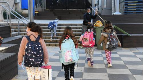 """חזרה ללימודים בבית ספר בלפור ת""""א , 21 בפברואר 2021. ראובן קסטרו"""