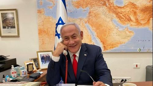 Биньямин Нетаниягу говорит по телефону с Джо Байденом. пресс-служба, אתר רשמי