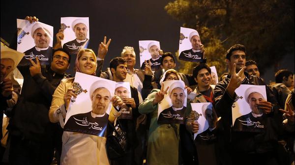קבלת פנים למשלחת האיראנית לשיחות הגרעין, טהראן, 24 בנובמבר 2013