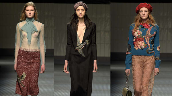 גוצ'י שבוע האופנה במילאנו סתיו-חורף 2015-16