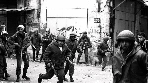 אינתיפאדה ראשונה, חיילי גולני בקסבה של שכם רחוב חטין מסגד אל נצר בו חוסלו שני מחבלים, 12.02.1988