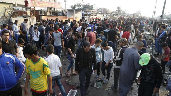 זירת פיגוע התאבדות בבגדאד, עיראק, 28 בפברואר 2016