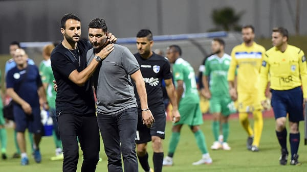 שלומי דורה מאמן עירוני קרית שמונה עם רן יצחק