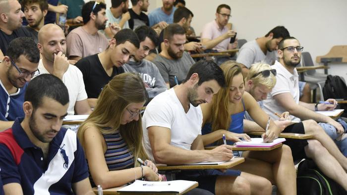 היום הראשון ללימודים באוניברסיטת בן גוריון, באר שבע, אוקטובר 2018
