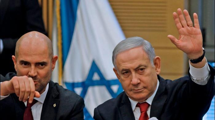 ראש הממשלה בנימין נתניהו ושר המשפטים אמיר אוחנה, 3 באוקטובר 2019