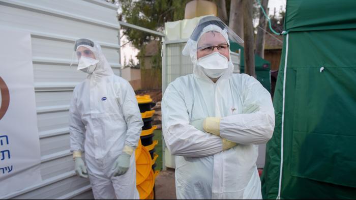 היערכות בבית החולים שיבא תל השומר להגעת הנוסעים הישראלים מספינת הקורונה ביפן - 20 פברואר 2020