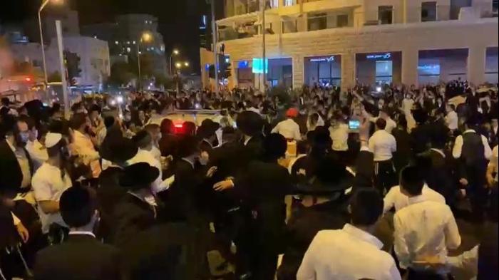 הפגנה נגד הסגרים בשכונות בירושלים. 12 ביולי 2020.