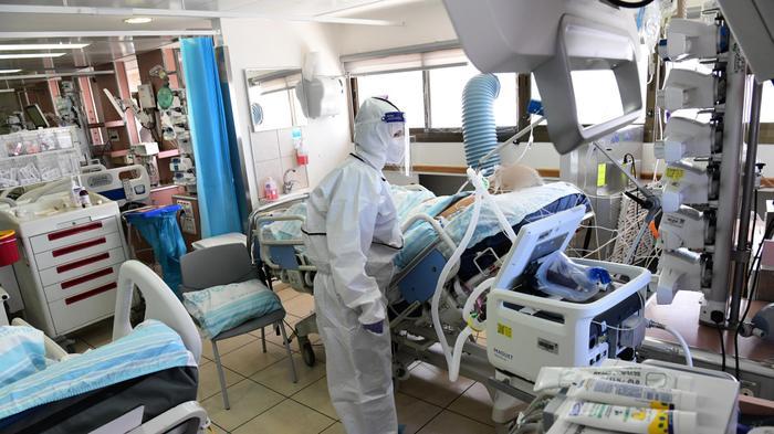 """מחלקת קורונה בית חולים רמב""""ם חיפה, 23 בספטמבר 2020. ראובן קסטרו"""