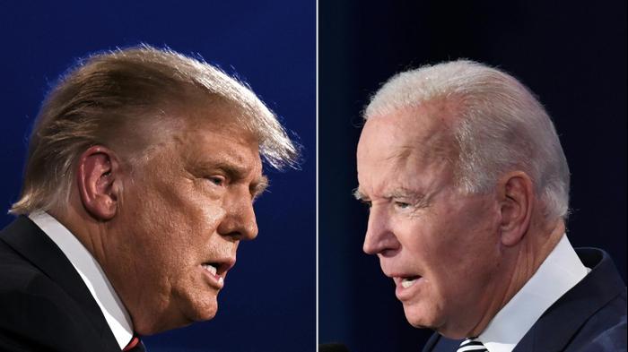 הנשיא דונלד טראמפ ויריבו ג'ו ביידן בעימות הנשיאותי, 30 בספטמבר 2020