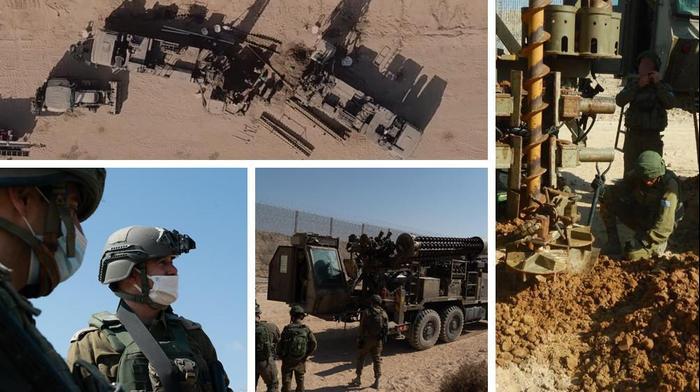 """איתור וחשיפת מנהרת טרור בדרום רצועת עזה-פעילות כוחות צה""""ל במרחב הגדר"""