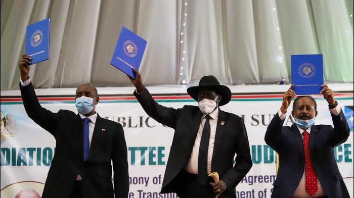 ראש ממשלת סודאן עבדאללה חמדוכ וראש מועצת הריבונות הזמנית בסודאן עבד אל-פתאח אל-בורהאן