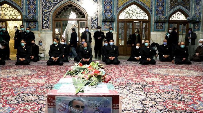 ארונו של המדען מוחסן פחריזאדה במקדש בעיר משהד, איראן, 29 בנובמבר 2020