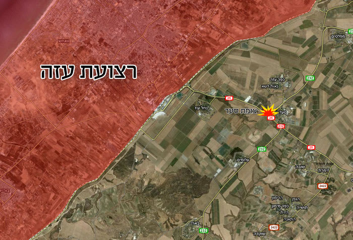 מפה צומת סעד, אפריל 2011 (Google Earth)