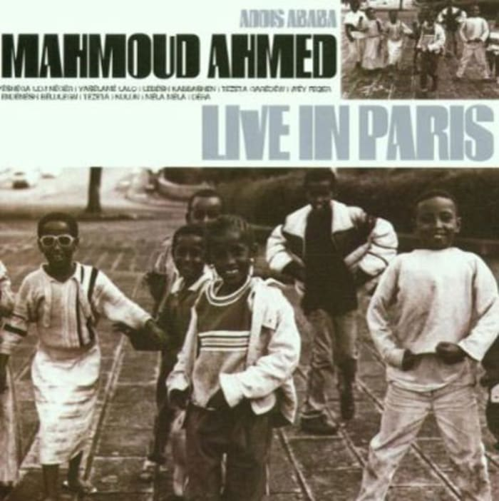 "עטיפת האלבום "" Live In Paris"" של Mahmoud Ahmed (סריקה)"