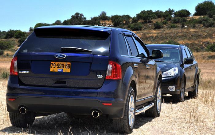 מגניב מבחן דרכים השוואתי: פורד אדג' פוגש את סובארו אאוטבק - וואלה! רכב XK-08